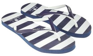 Samba Sol Women's Beach Collection Flip Flops - Blue Marine-Samba Sol
