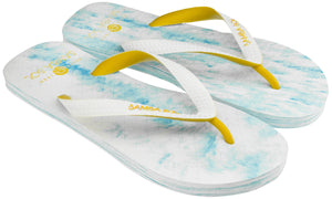 Men's Beach Collection Flip Flops - Lightblue/Yellow