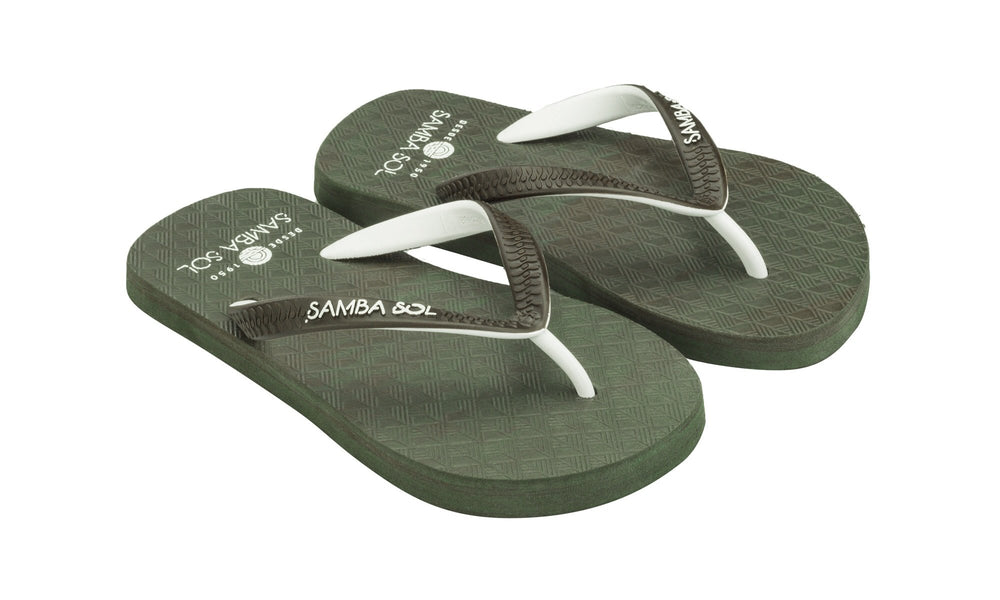Samba Sol Kid's Beach Collection Flip Flops - Camo