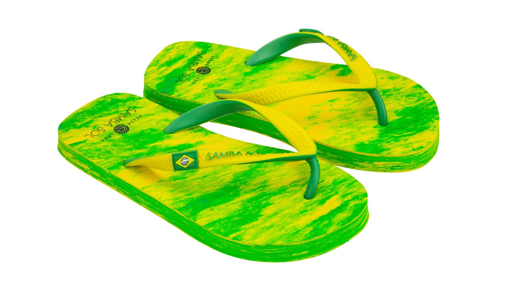 Samba Sol Kid's Beach Collection Flip Flops - Lime