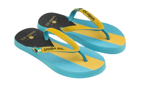 Samba Sol Kid's Countries Collection Flip Flops - Bahamas-Samba Sol