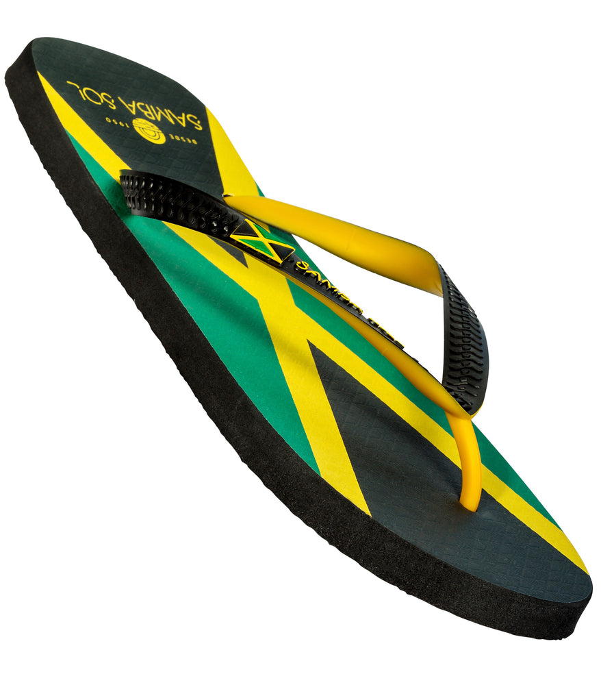 Samba Sol Men's Countries Collection Flip Flops - Jamaica-Samba Sol