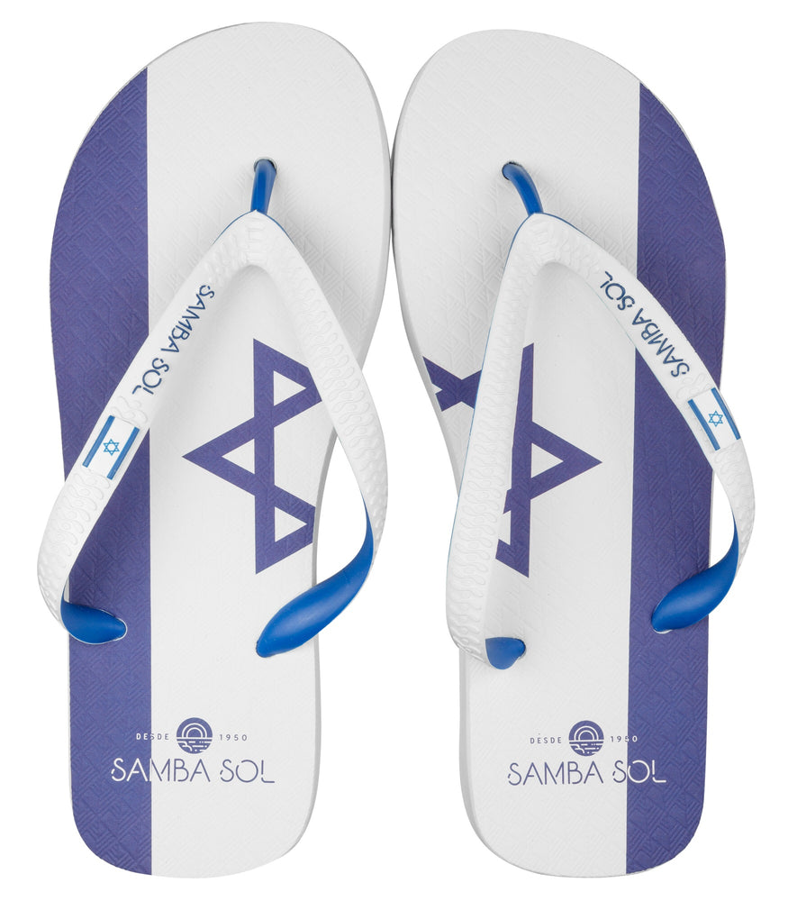 Men's Flag Collection Flip Fops - Israel