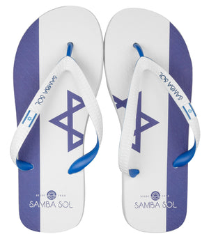 Samba Sol Men's Countries Collection Flip Flops - Israel