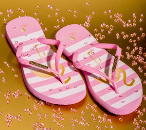 Samba Sol Women's Fashion Collection Flip Flops - Flamingo-Samba Sol