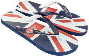 Samba Sol Men's Countries Collection Flip Flops - England-Samba Sol