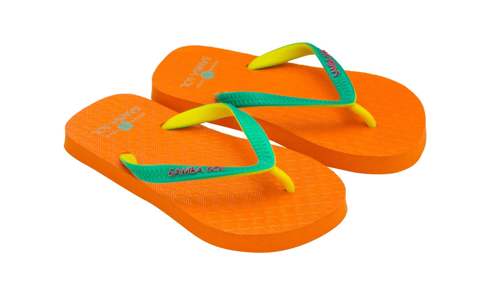 Samba Sol Kid's Beach Collection Flip Flops - Orange