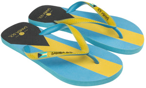 Samba Sol Men's Countries Collection Flip Flops - Bahamas-Samba Sol