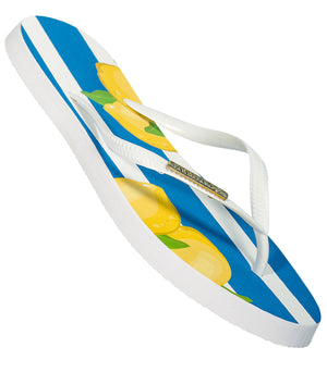 Samba Sol Women's Fashion Collection Flip Flops - Capri Lemon-Samba Sol