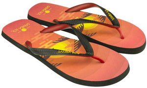 Samba Sol Men's Beach Collection Flip Flops - Sunset-Samba Sol