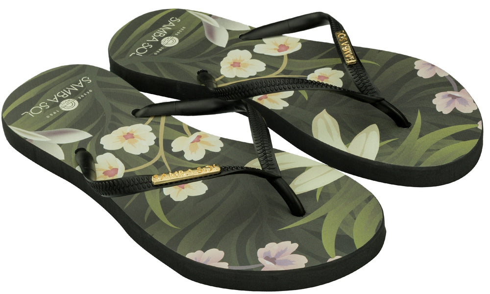 Women's Fashion Collection Flip Flops - Flowers
