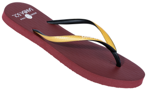 Women's Beach Collection Flip Flops - FSU Florida State Gold/Black/Burgundy