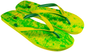 Samba Sol Men's Beach Collection Flip Flops - Lime-Samba Sol
