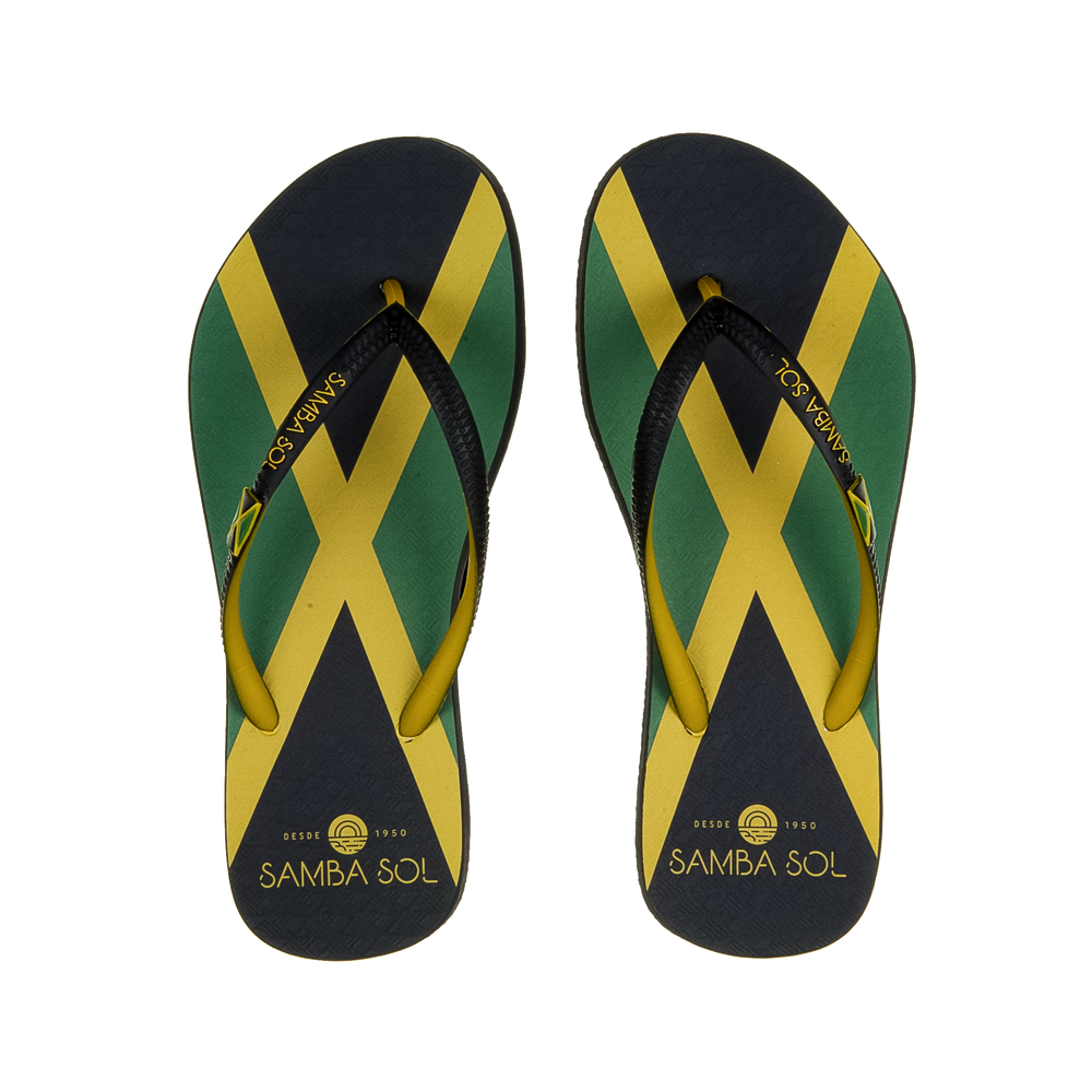 Samba Sol Women's Countries Collection Flip Flops - Jamaica