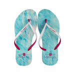 Samba Sol Women's Beach Collection Flip Flops - Light Pink/Blue