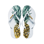 Women's Fashion Collection Flip Flops - Pineapple White Strap