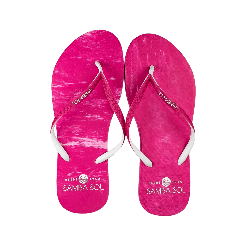 Samba Sol Women's Beach Collection Flip Flops - Pink