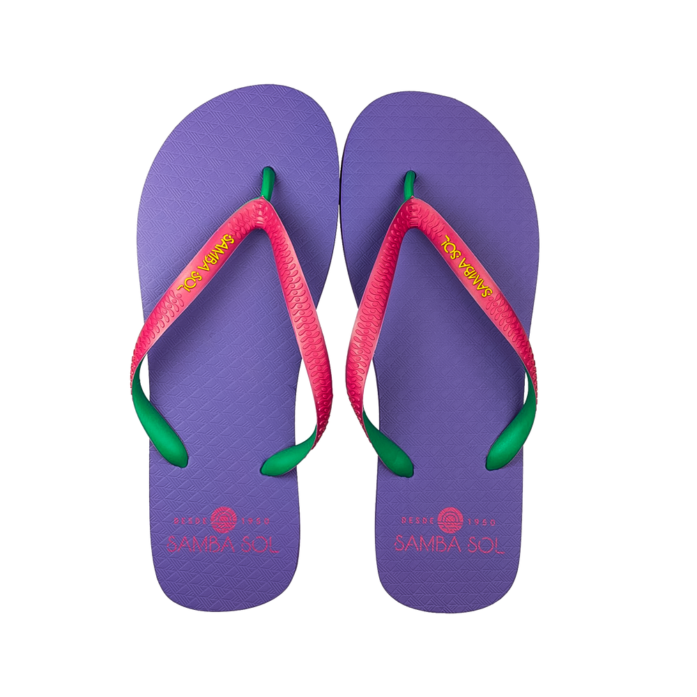 Samba Sol Men's Beach Collection Flip Flops - Purple