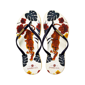 Women's Fashion Collection Flip Flops - Tiger