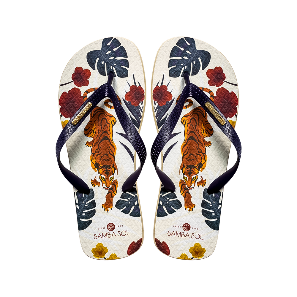 Men's Fashion Collection Flip Flops -Tiger