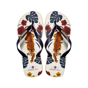 Samba Sol Men's Fashion Collection Flip Flops - Tiger