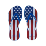 Samba Sol Women's Countries Collection Flip Flop - USA