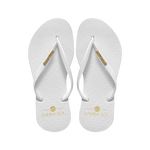 Samba Sol Women's Fashion Collection Flip Flops - Classic White