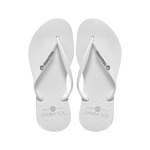 Women's Crystal Collection Flip Flops - White Crystal