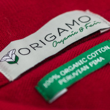 Origamo label| Organic and Fair