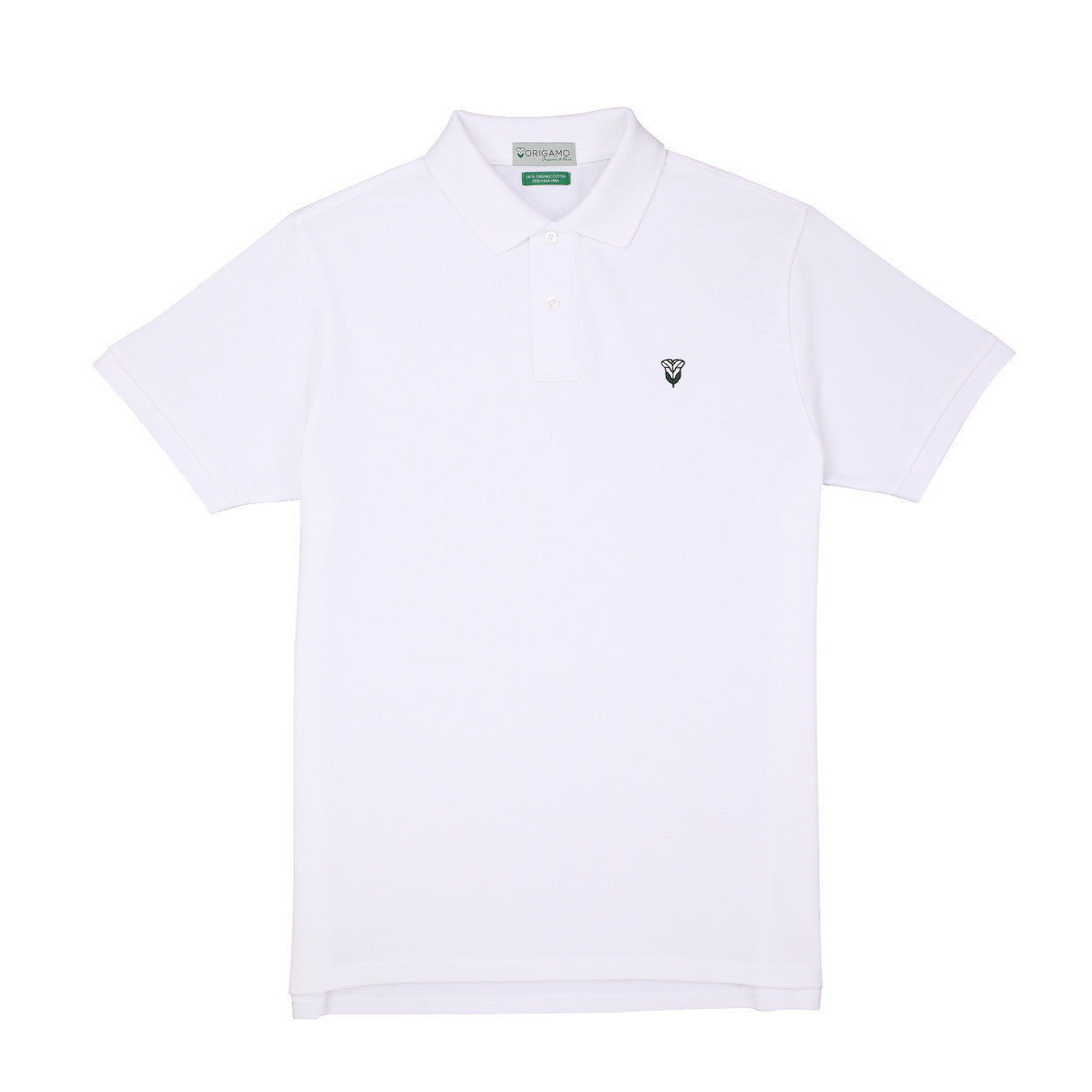 Pacific Polo Plain White Snow </br>Double Pique - 100% Organic Pima Cotton