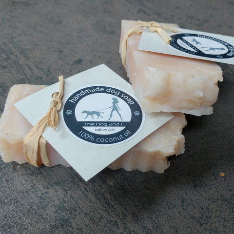 100% Coconut Oil Dog & Horse Soap With Lemongrass, Citronella, Peppermint & Spearmint Ess Oils 50g, 100g or 200g