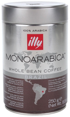 Illy Monoarabica Brazil Whole Bean Coffee Tin – 250 g