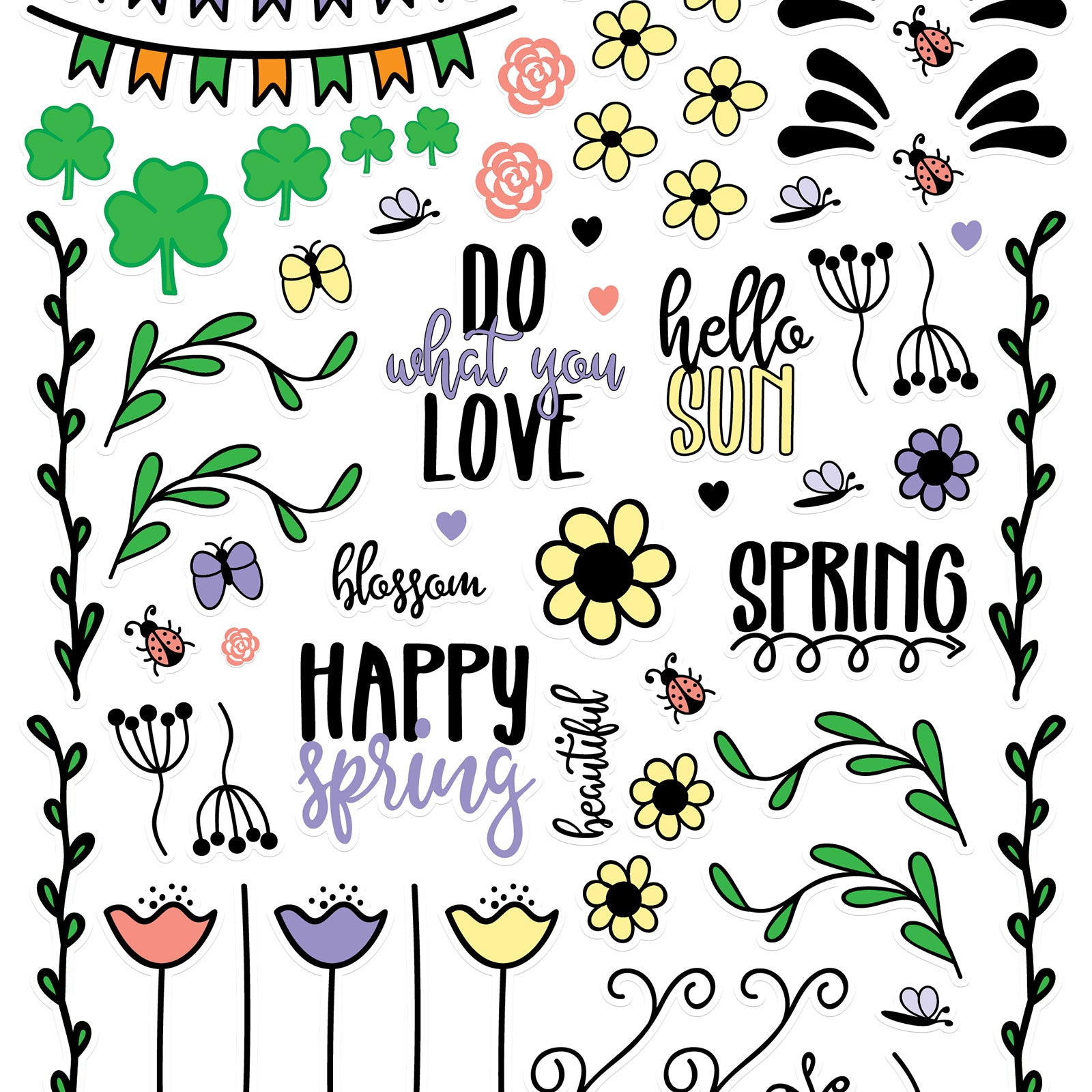 Free Spring Planner Stickers