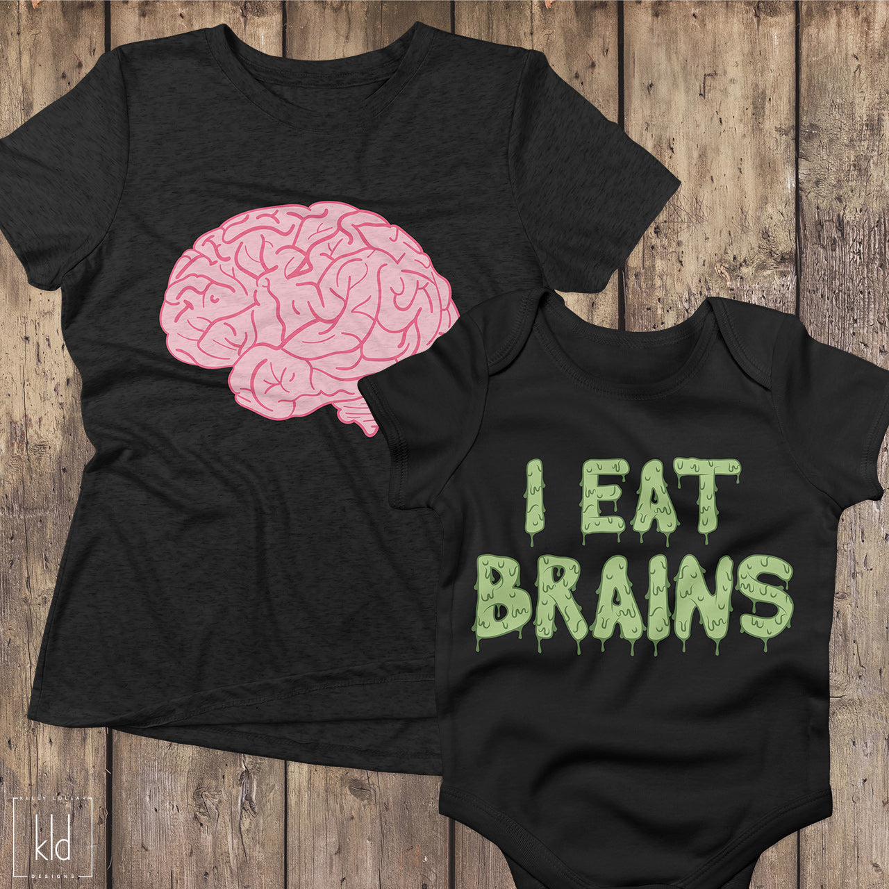 aa67252bf Freebie Friday SVG Set - Brains and I Eat Brains quote for matching Mom, Dad