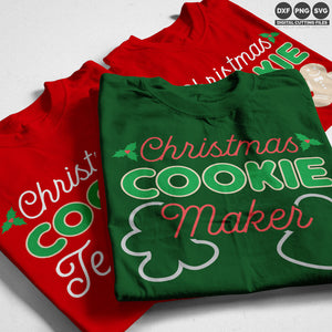 Freebie Friday SVG - Christmas Cookie svg set - one for the baker and two for the tasters with cute boy and girl gingerbread people