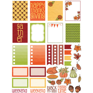Monthly Freebie - November Planner Stickers with Thanksgiving and harvest theme - Free for Personal Use
