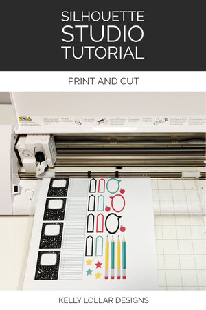 Silhouette Studio Tutorial - Print and Cut with step by step instructions and sample file