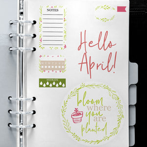Monthly Freebie - April Print and Cut Planner Stickers - Free for Personal Use