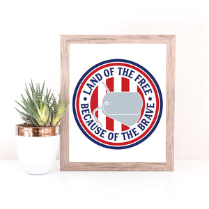 Freebie Friday Cut File | Land of the Free Because of the Brave svg files with dog tags