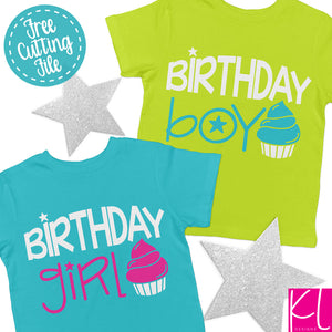 Freebie Friday SVG - Birthday Girl and Birthday Boy svg set - Free for Personal Use