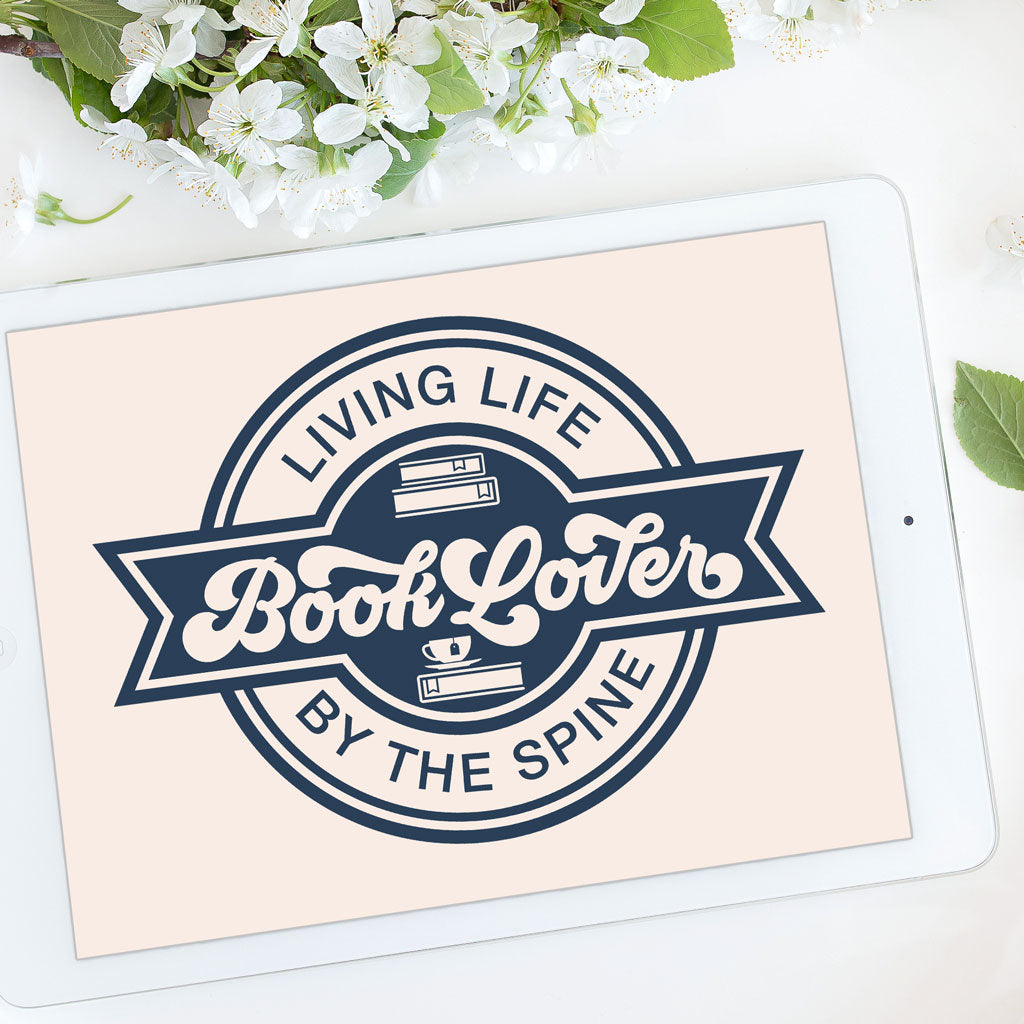 Book Lover Badge | SVG DXF EPS PNG Cut Files | Free for Personal Use