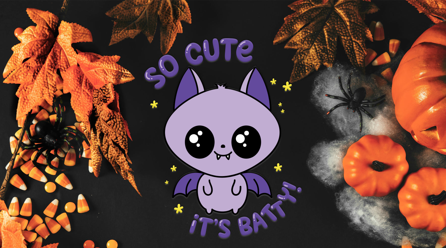 Cute Halloween Kawaii Bat Design for Kids | SVG DXF EPS PNG Cut Files | Free for Personal Use
