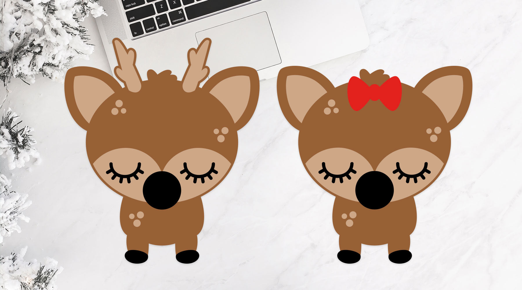 Cute Woodland Reindeer for Children's Winter Shirts and Decor | SVG DXF EPS PNG Cut Files | Free for Personal Use