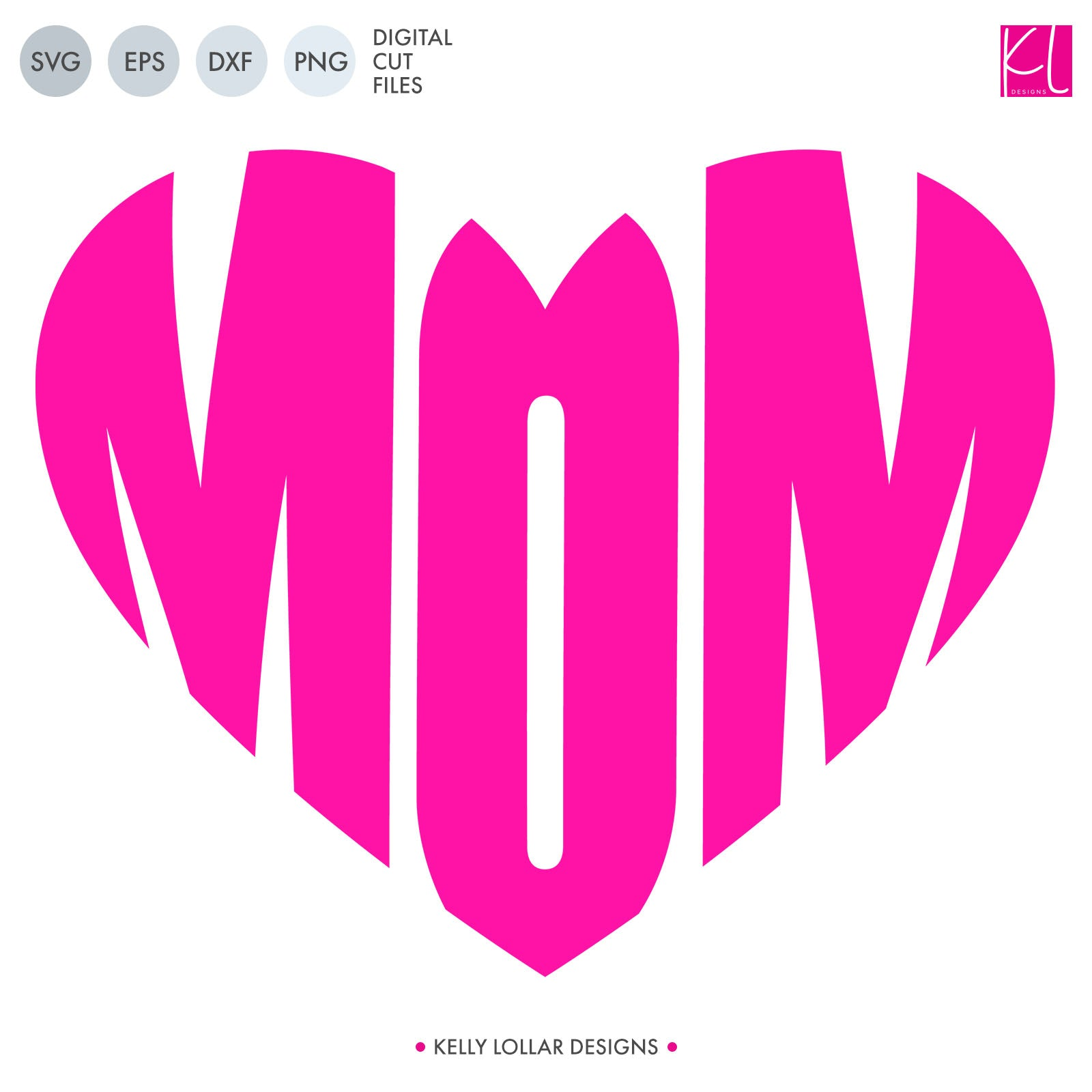 Mom Heart | SVG DXF EPS PNG Cut Files | Free for Commercial Use