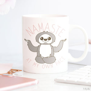 Freebie Friday | Namaste at My Own Pace Kawaii Sloth Cut Files | SVG DXF EPS PNG