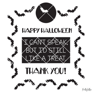 Bat Filled Non-verbal Trick or Treat Bag Design for Halloween | SVG DXF EPS PNG Cut Files | Free for Commercial Use