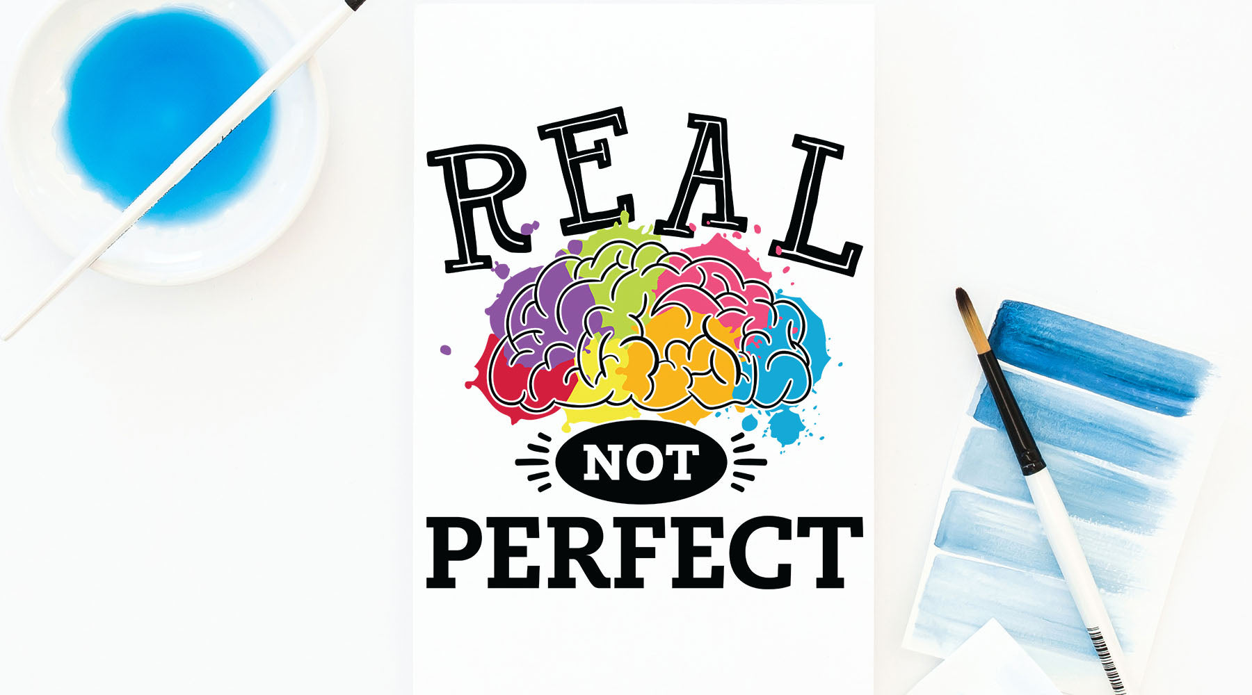 Real Not Perfect Autism and Neurodiversity Awareness Design | SVG DXF EPS PNG Cut Files | Free for Commercial Use