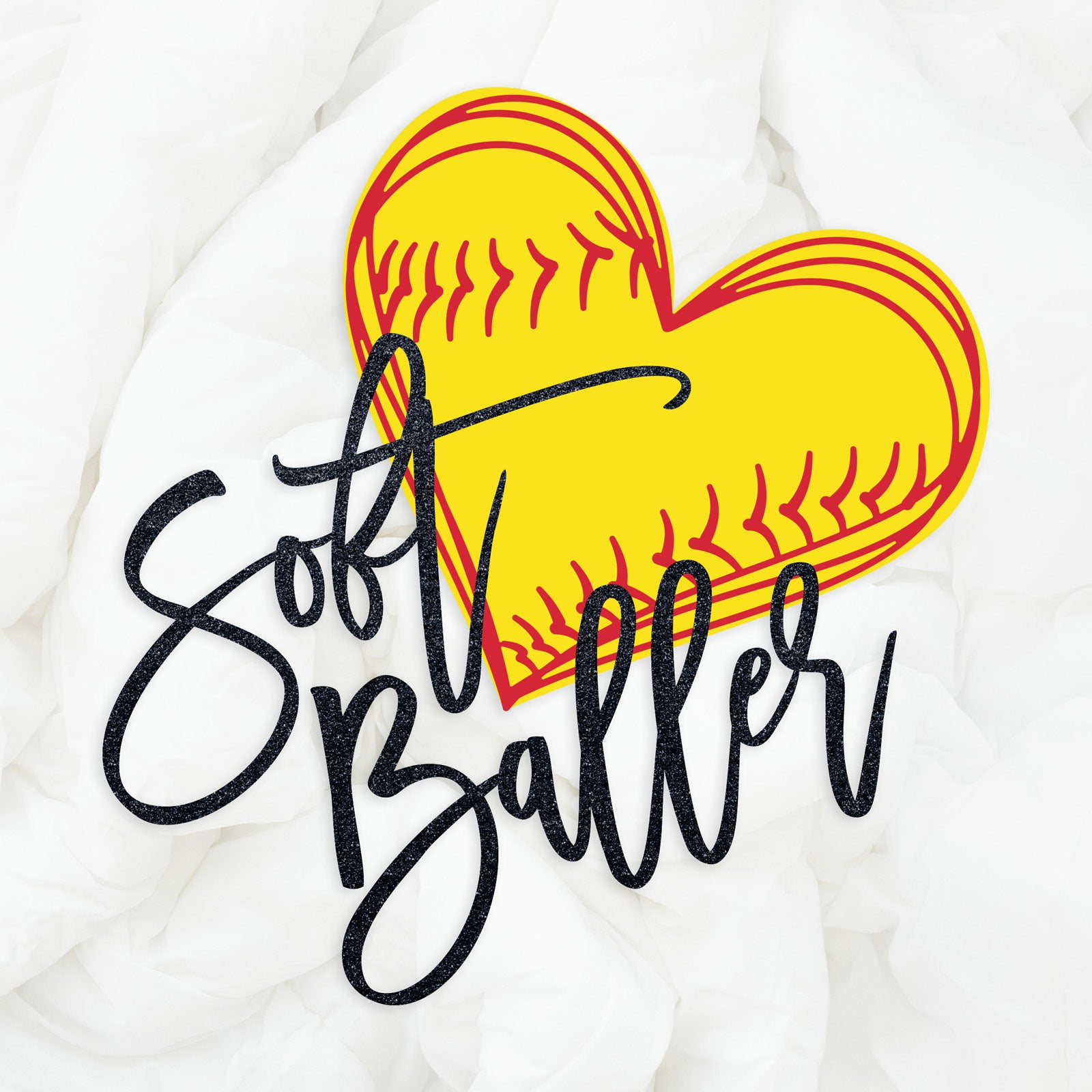 Soft Baller SVG DXF EPS PNG Softball Cut Files