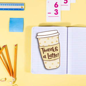 Freebie Friday - Thanks a Latte Print and Cut Gift Card Holder in SVG, PNG and PDF files