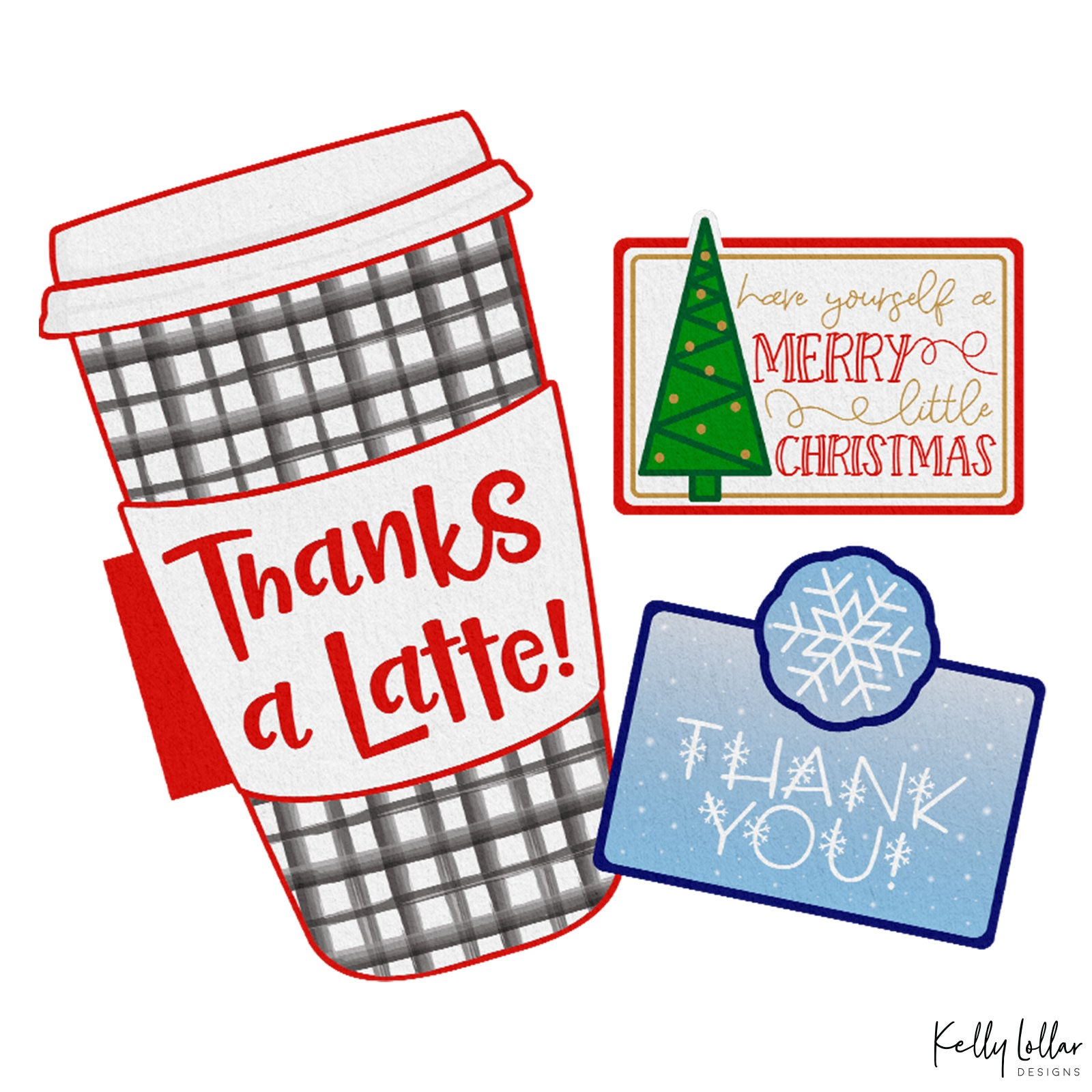 Freebie Friday | Christmas Holiday Gift Card Holders | SVG PNG PDF Print and Cut Files